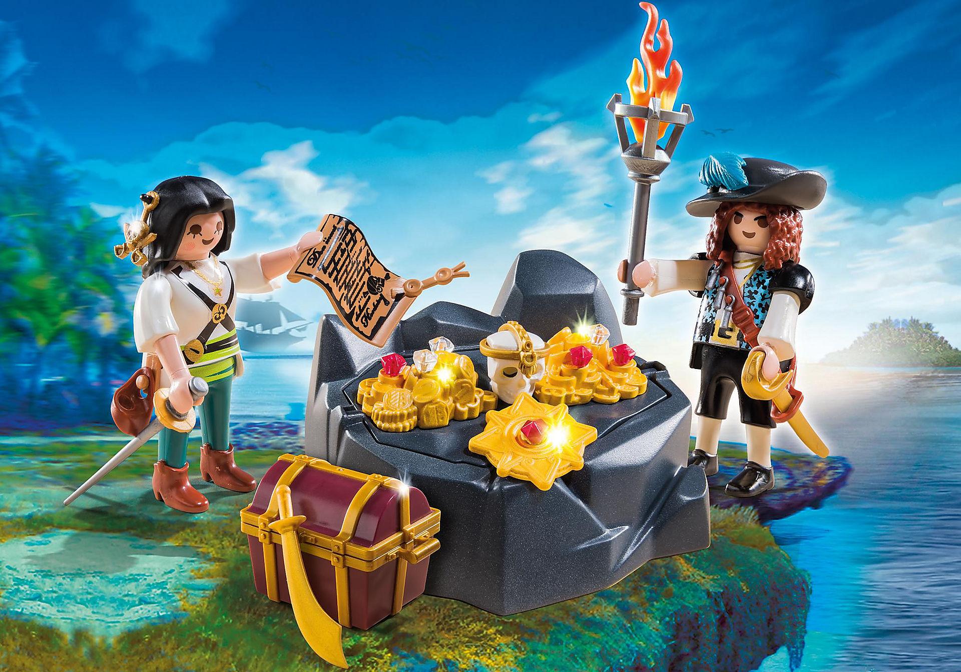 6683 Koninklijke schatkist met piraat zoom image1