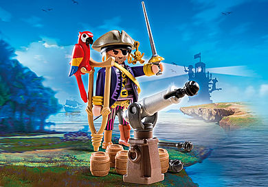 6684 Capitaine pirate avec canon