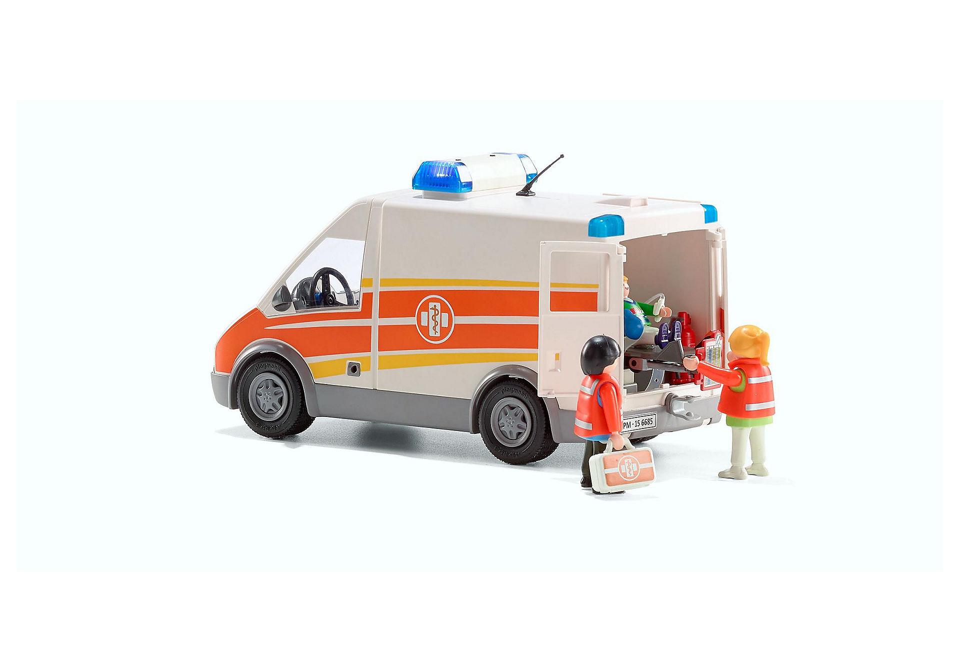 Avec Et 6685 Ambulance Gyrophare Sirène France Playmobil® KTclF1J
