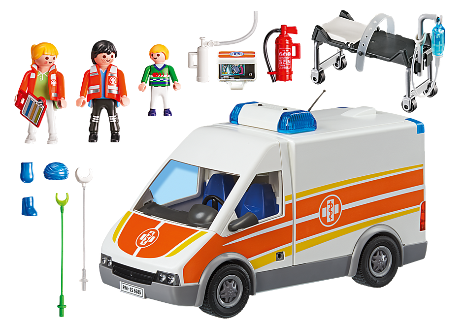 6685 Ambulance with Lights and Sound detail image 4