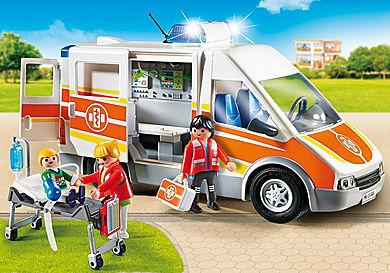 6685_product_detail/Ambulance avec gyrophare et sirène