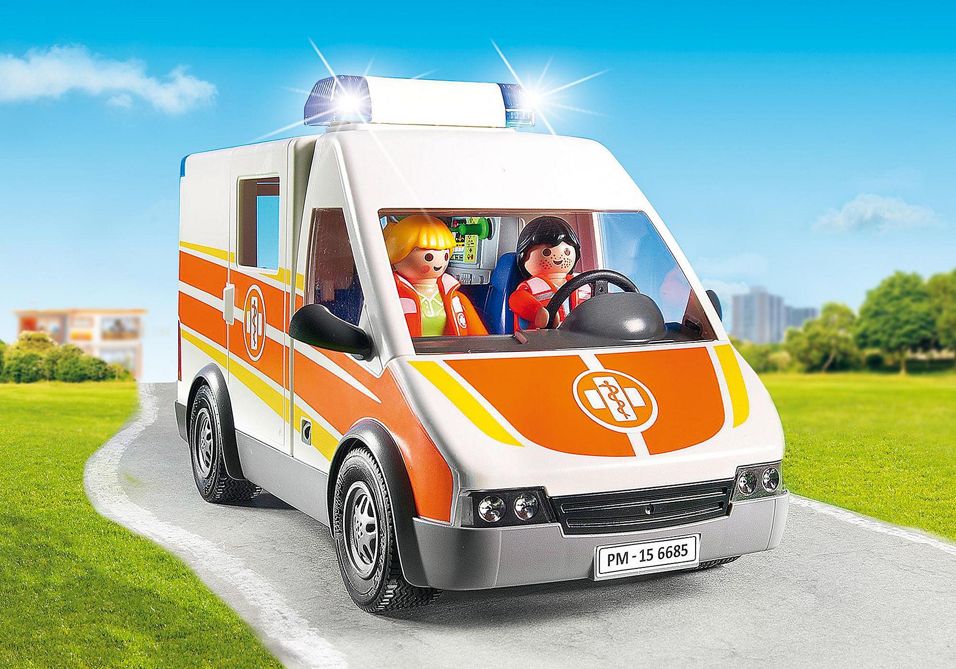 6685 Ambulance avec gyrophare et sirène  zoom image5