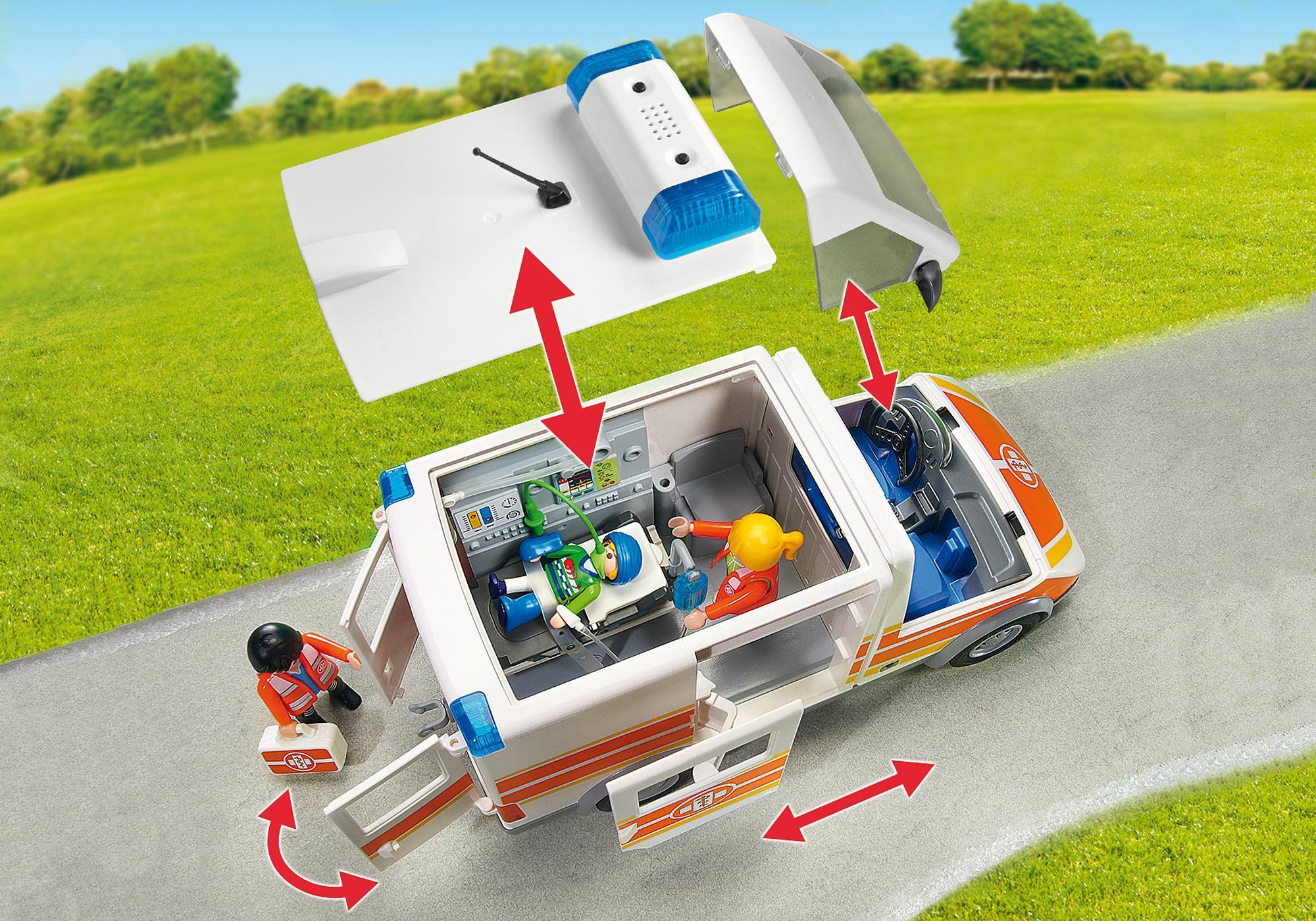 http://media.playmobil.com/i/playmobil/6685_product_extra3/Ambulance avec gyrophare et sirène