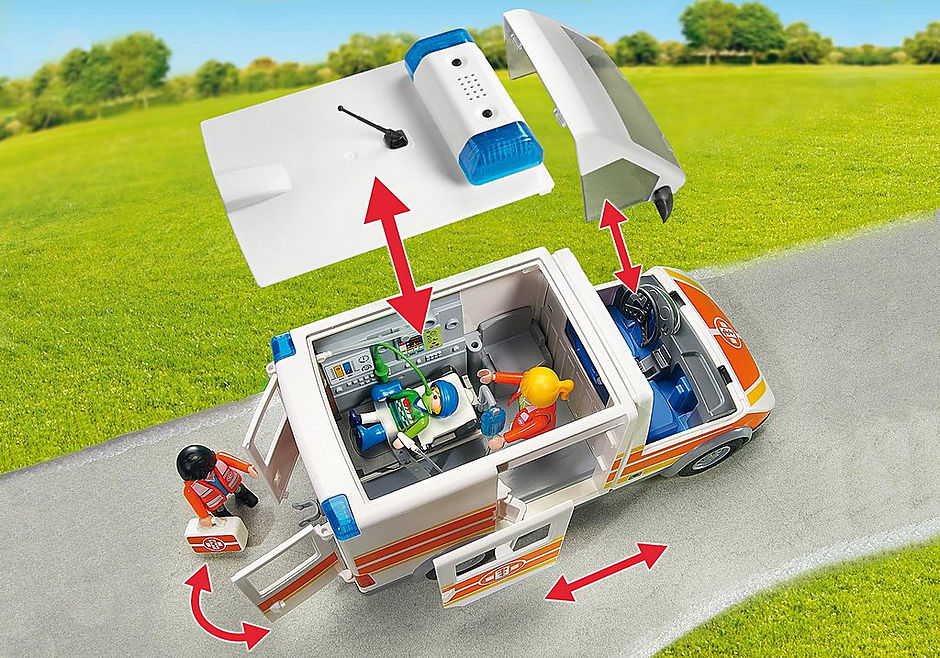 6685 Ambulans med ljus och ljud detail image 7