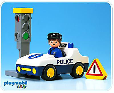6709-A Voiture de police / feu tricolore detail image 1