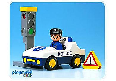 6709-A Voiture de police / feu tricolore