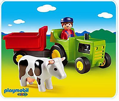 6715-A Traktor mit Anhänger detail image 1