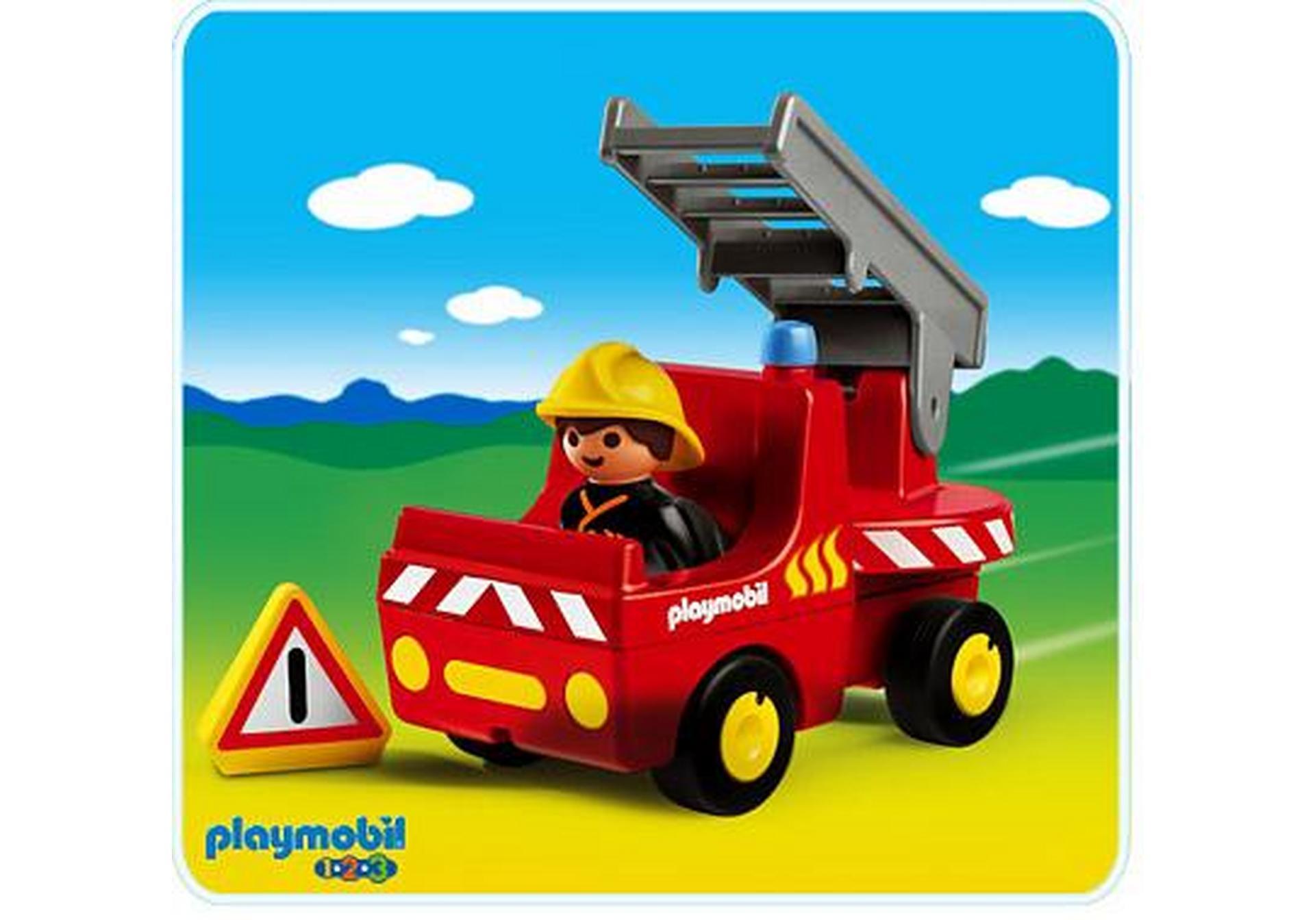 pompier camion 1 2 3 6716 a playmobil france. Black Bedroom Furniture Sets. Home Design Ideas