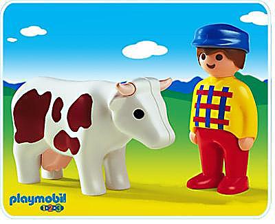 6724-A Bauer und Kuh detail image 1
