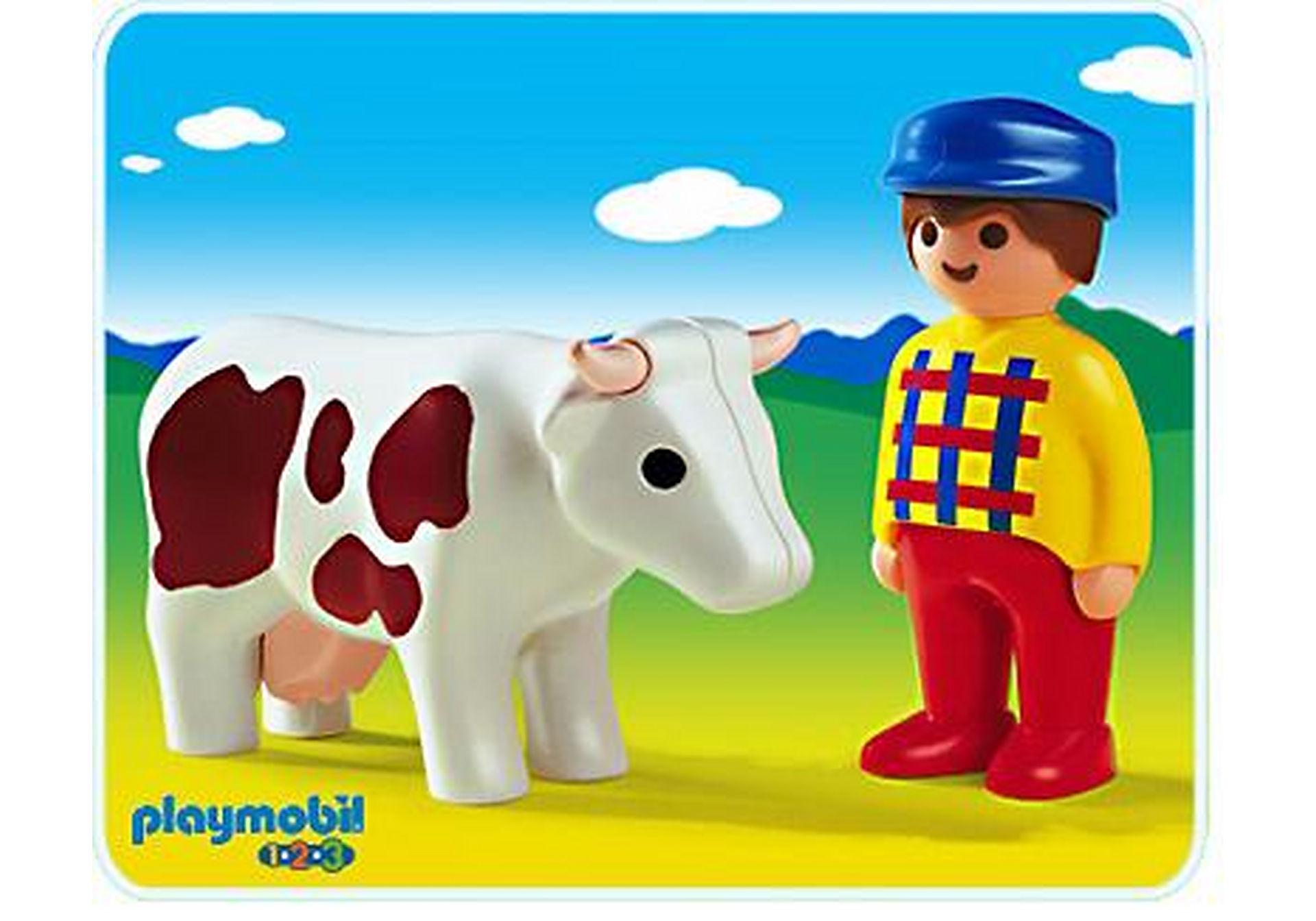 6724-A Bauer und Kuh zoom image1