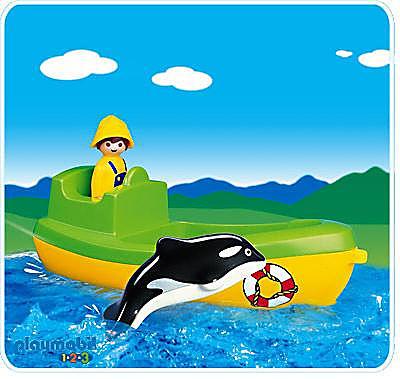 6739-A Fischerboot mit Wal detail image 1