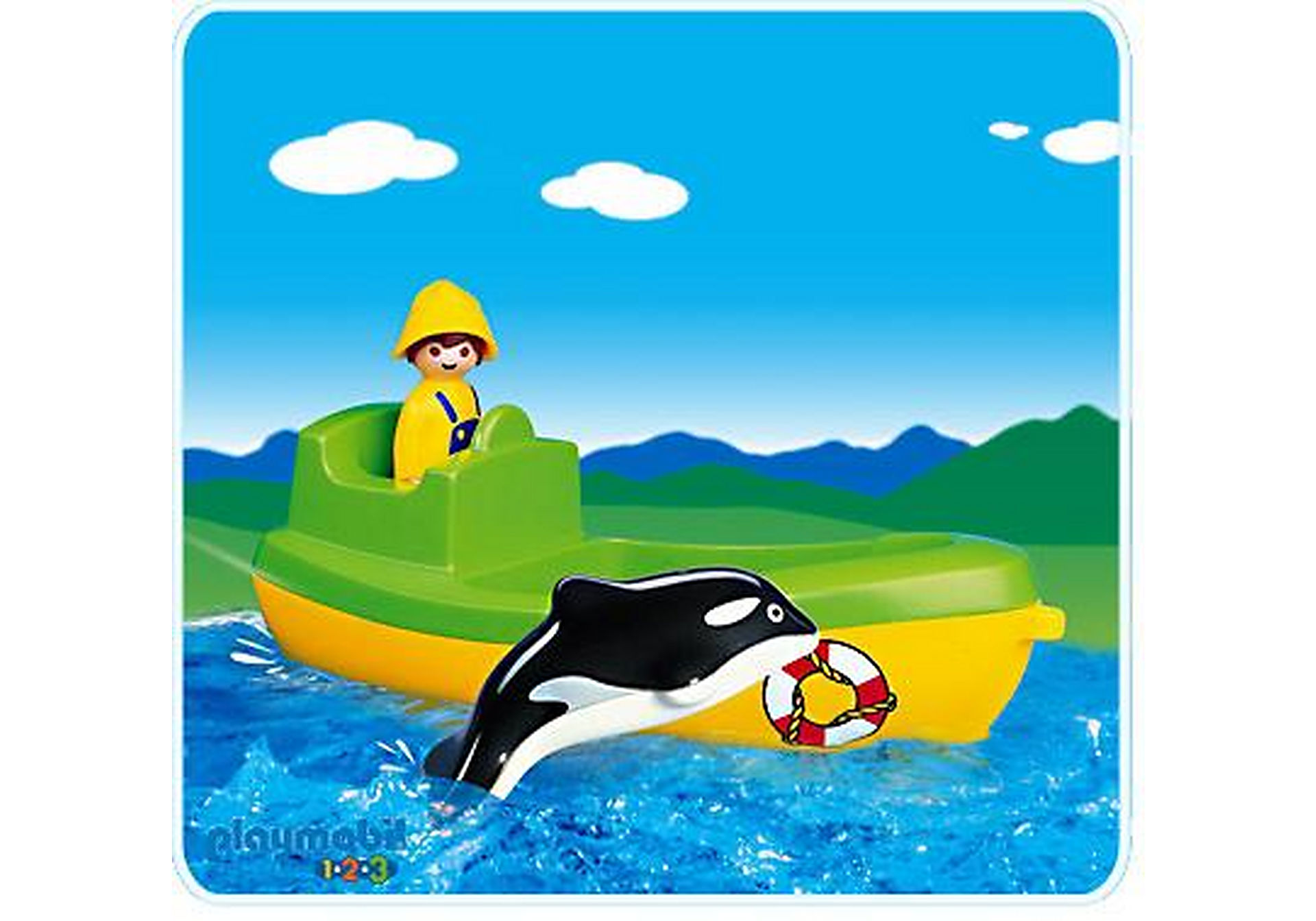 6739-A Fischerboot mit Wal zoom image1