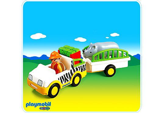 6743-A Safari-Fahrzeug mit Nashorn detail image 1