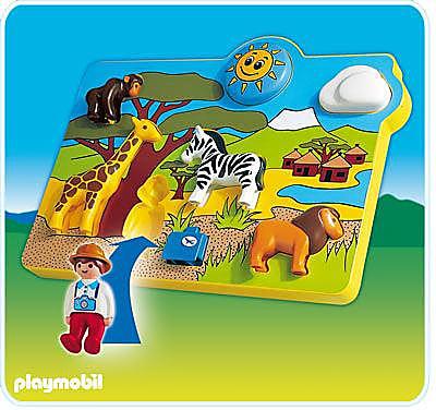 6745-A Spielpuzzle Wildtiere detail image 1