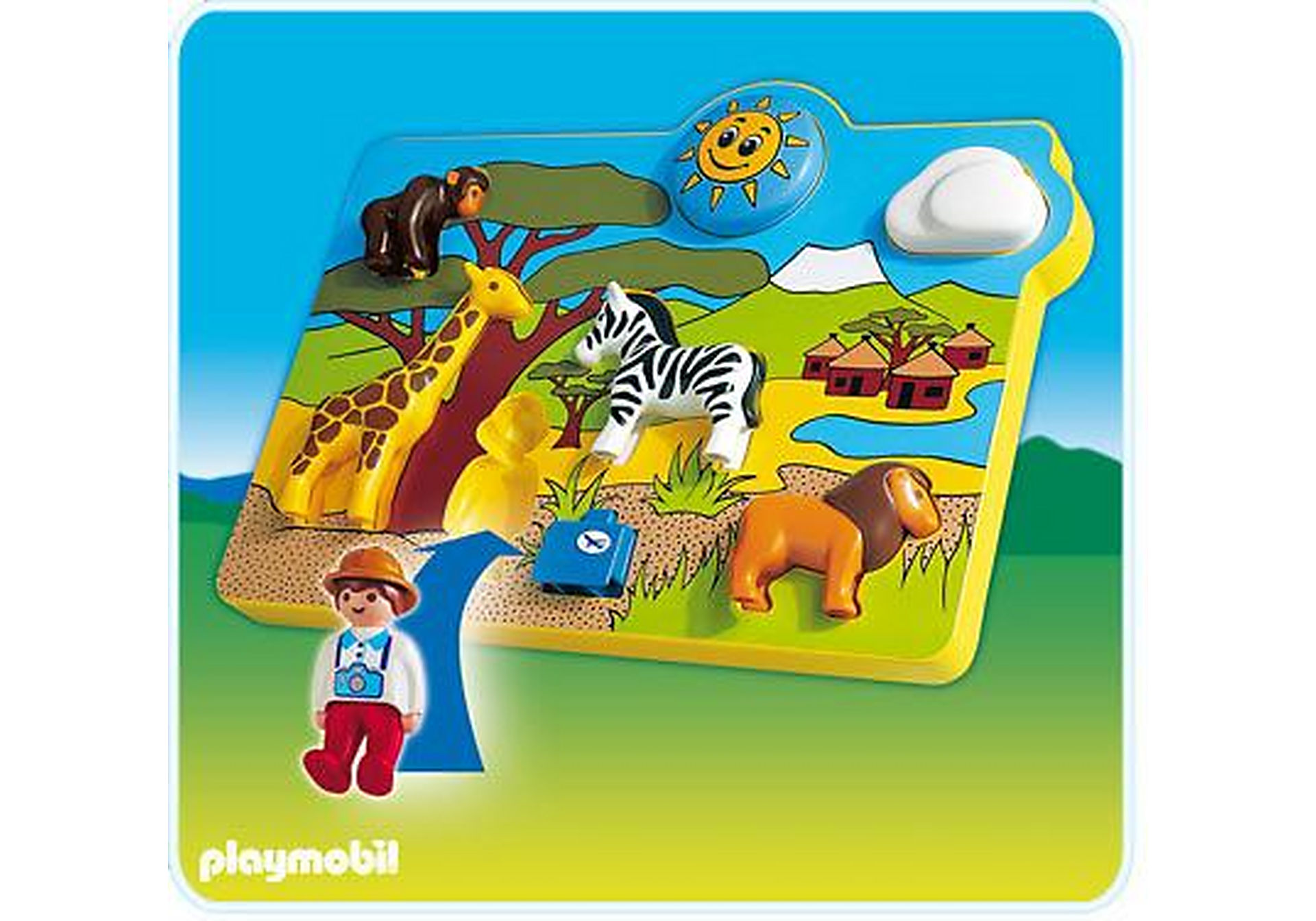 6745-A Spielpuzzle Wildtiere zoom image1