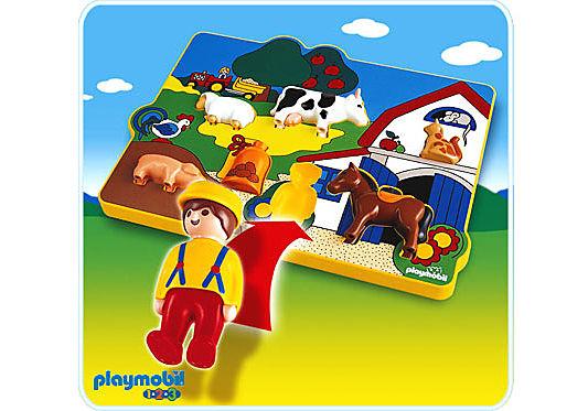 6746-A Spielpuzzle Bauernhof detail image 1