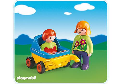6749-A Mama mit Kinderwagen detail image 1