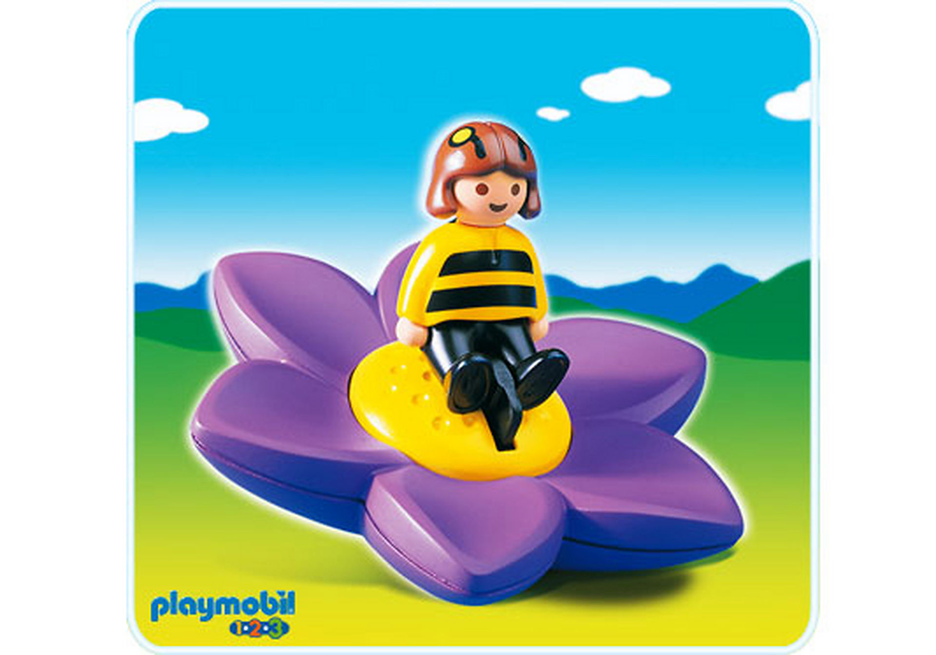 6756-A Blütenkreisel mit Biene zoom image1