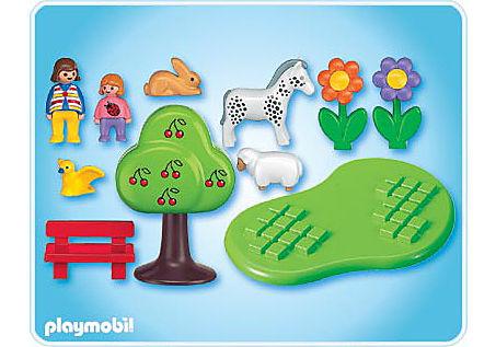 6757-A Sommerwiese mit Tieren detail image 2