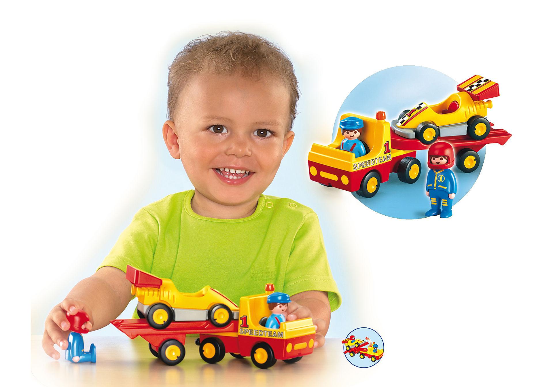 6761-A Voiture de course avec camion de transport zoom image2