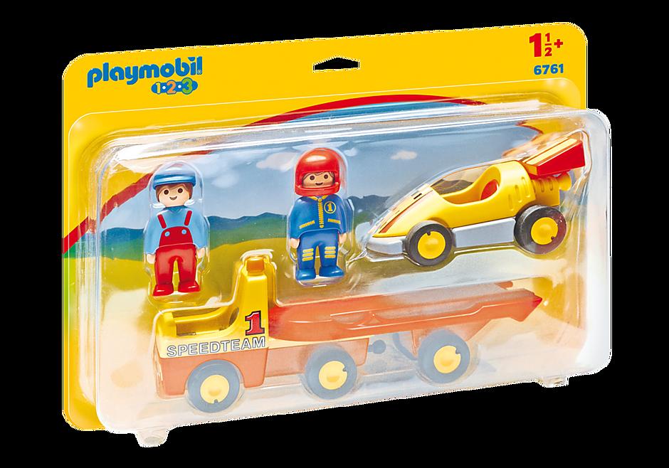 6761 Raceauto met transportwagen detail image 3