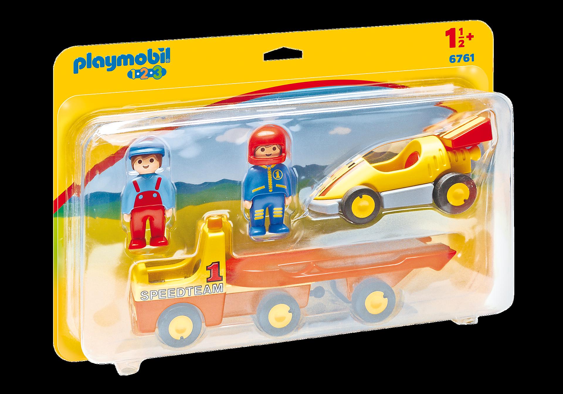 6761 Raceauto met transportwagen zoom image3