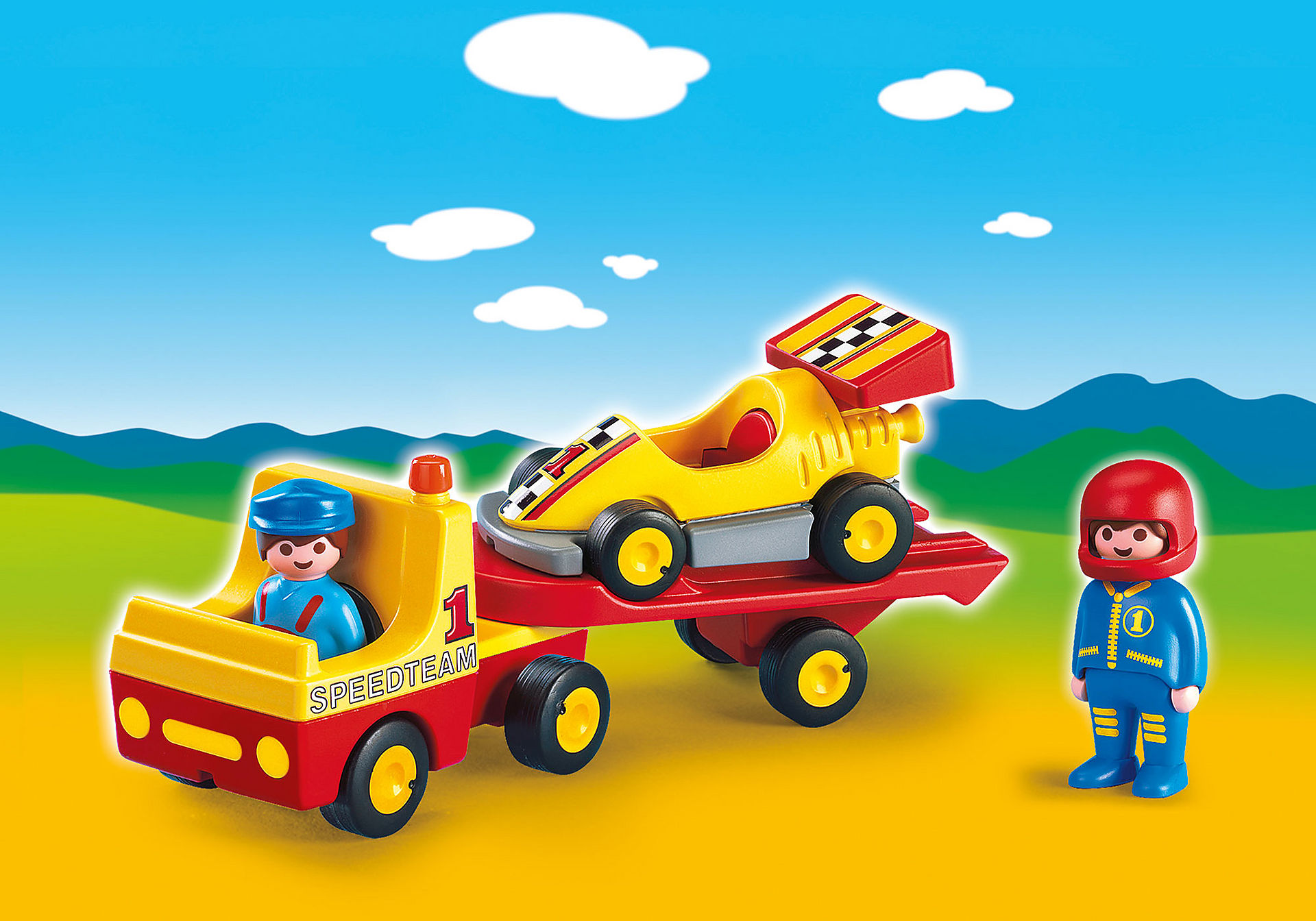 6761 1.2.3 Bärgningsbil med racerbil zoom image1
