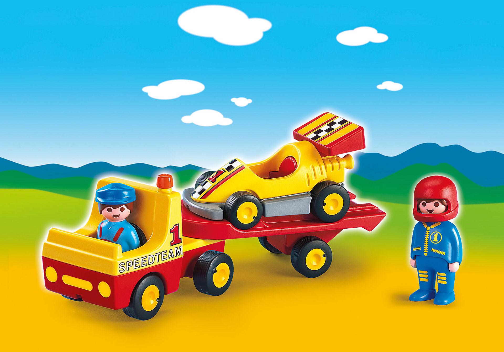 6761 Raceauto met transportwagen zoom image1