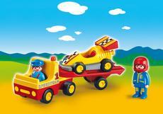 Racing Car with Transporter 6761
