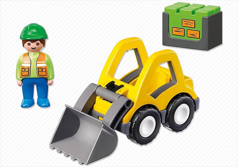6775 Graafmachine met werkman detail image 3