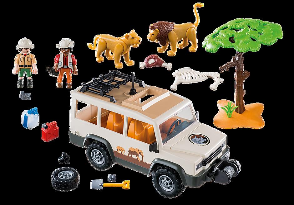 http://media.playmobil.com/i/playmobil/6798_product_box_back/Veículo de safari com leões