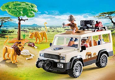 6798_product_detail/Aventuriers avec 4x4 et couple de lions