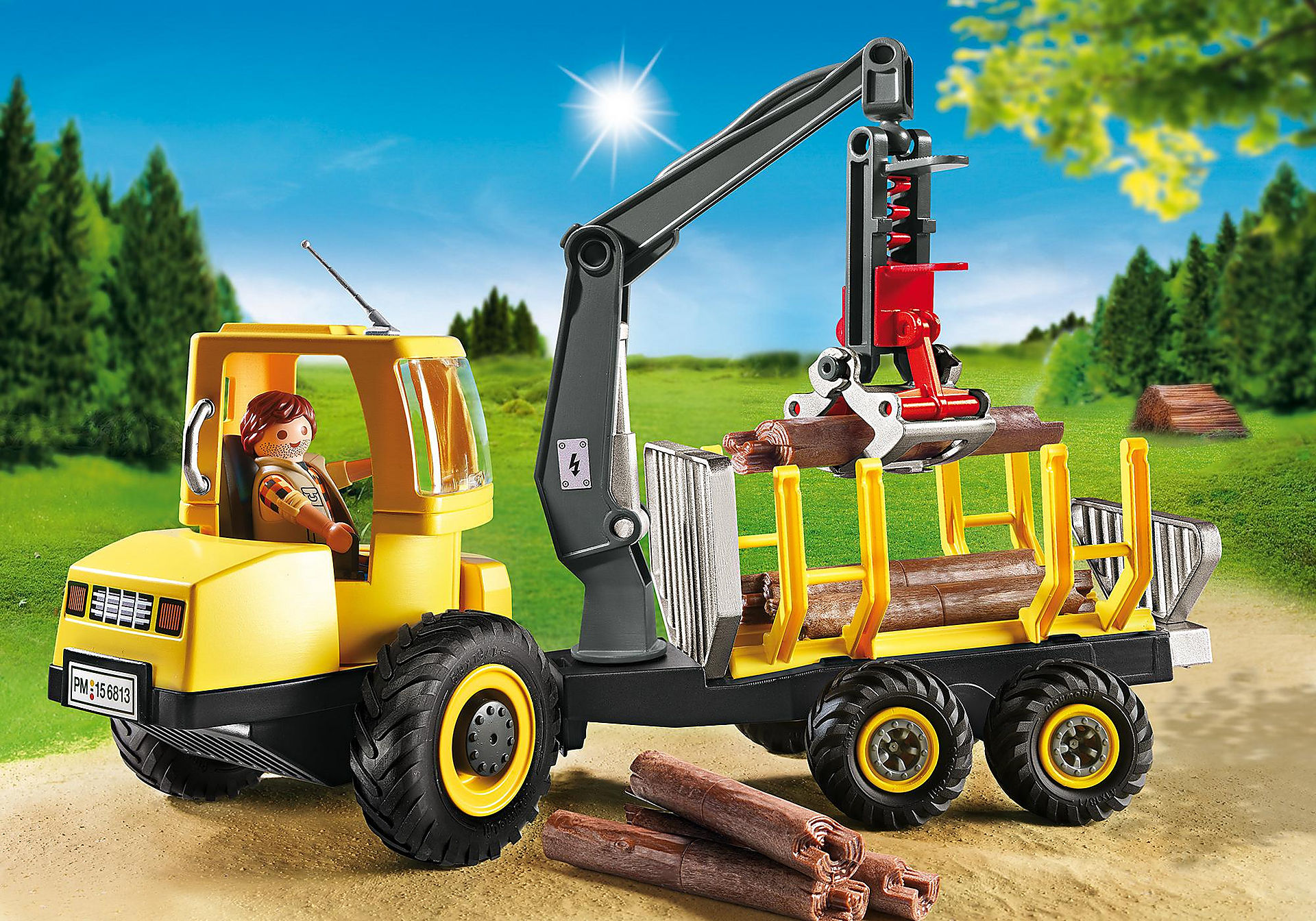 6813 Timber Transporter with Crane zoom image1