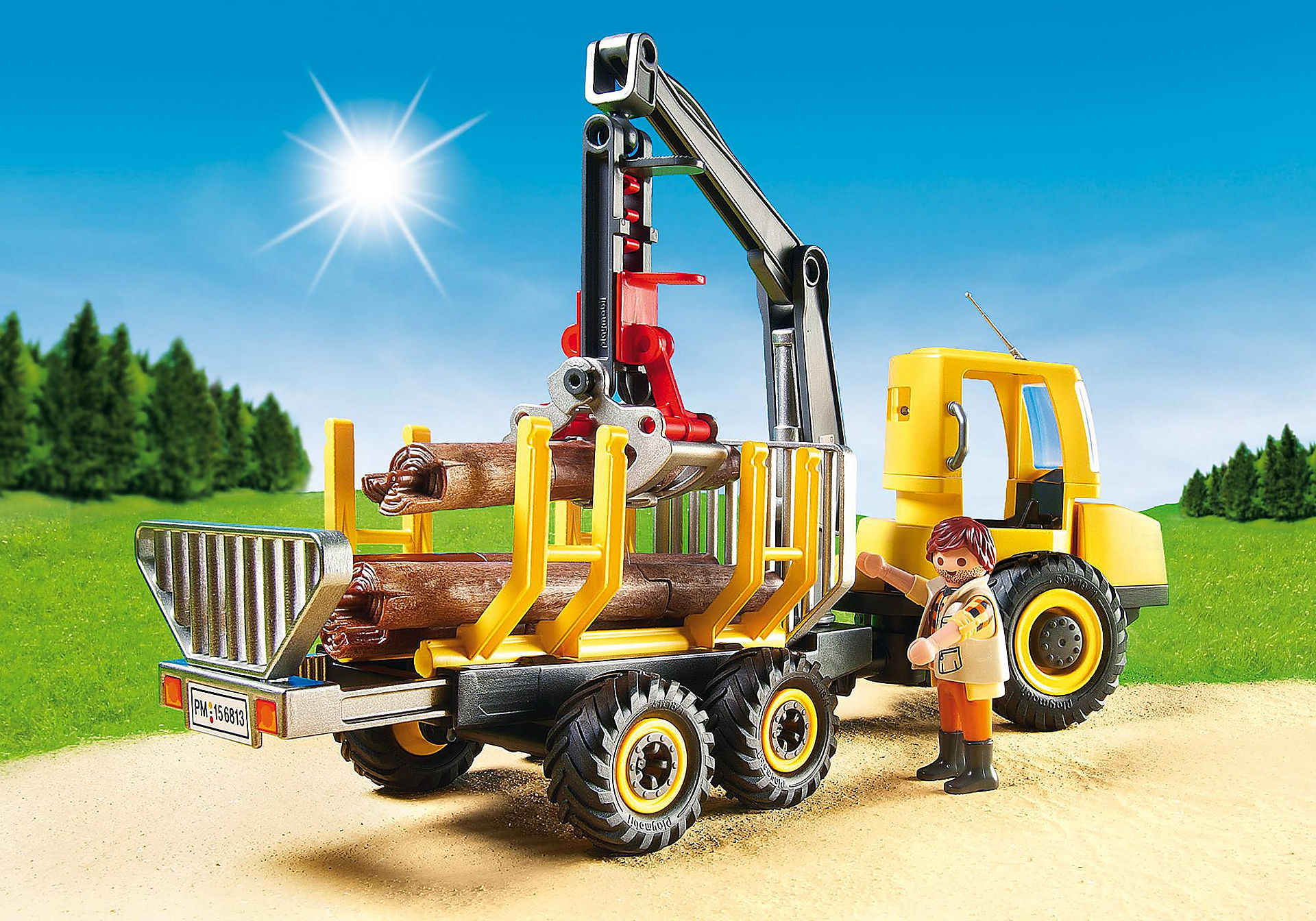 6813 Timber Transporter with Crane zoom image5