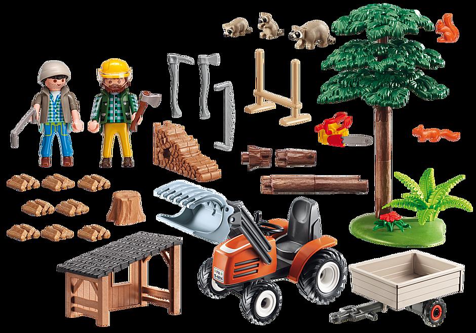 6814 Skogsarbetare med traktor detail image 4