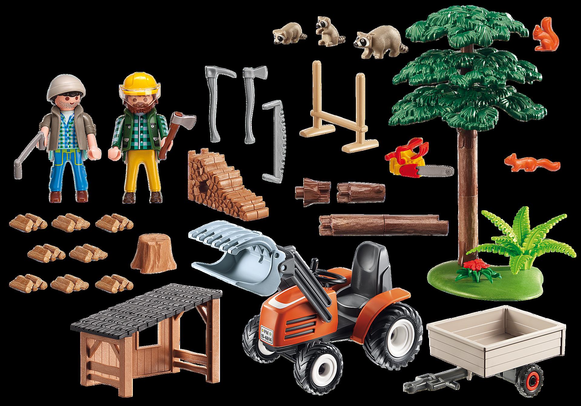 6814 Skogsarbetare med traktor zoom image4