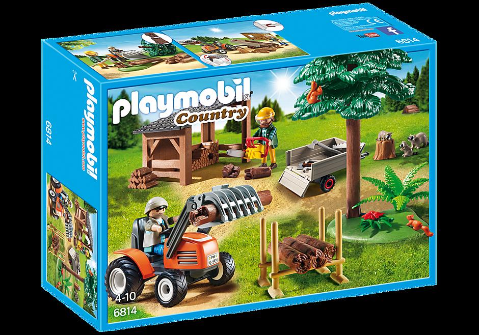 6814 Skogsarbetare med traktor detail image 3
