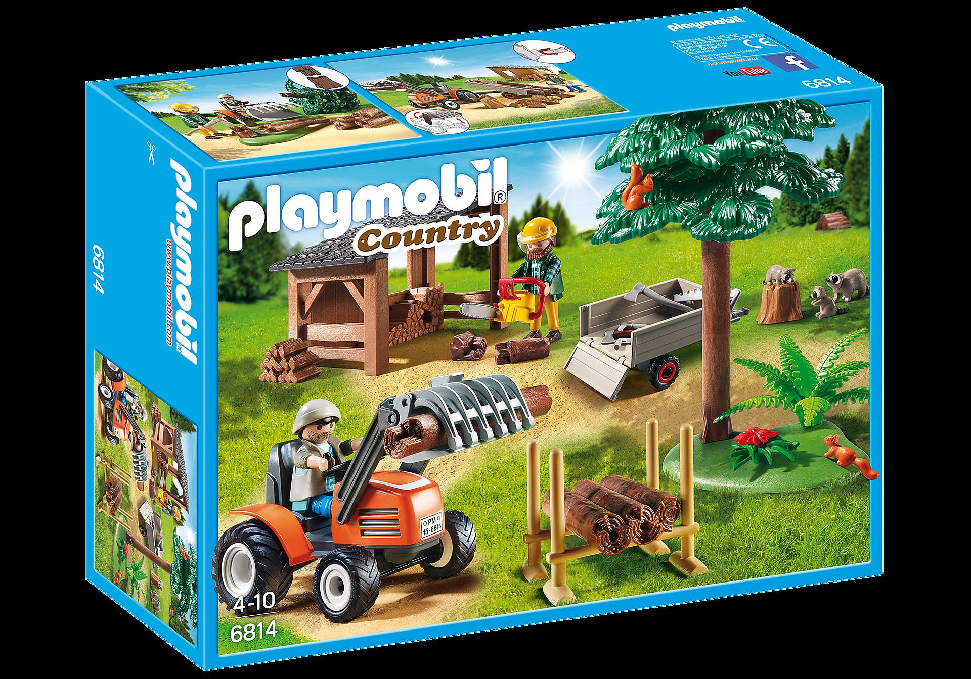 6814 Skogsarbetare med traktor zoom image3