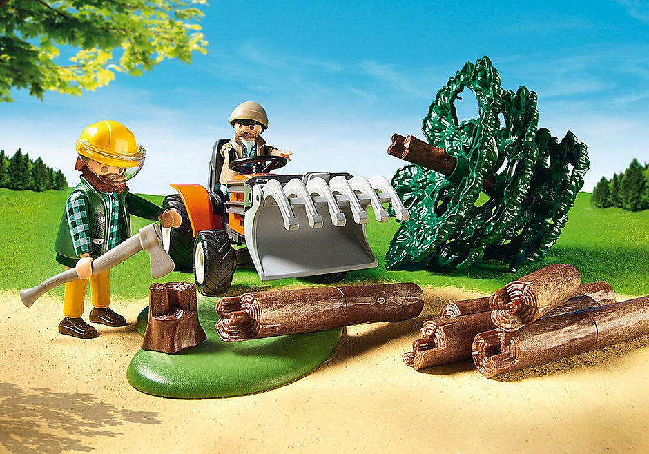 http://media.playmobil.com/i/playmobil/6814_product_extra2/Lumber Yard with Tractor