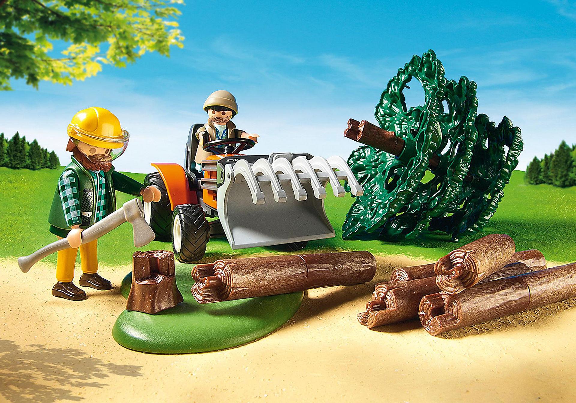 6814 Skovarbejder med traktor zoom image6