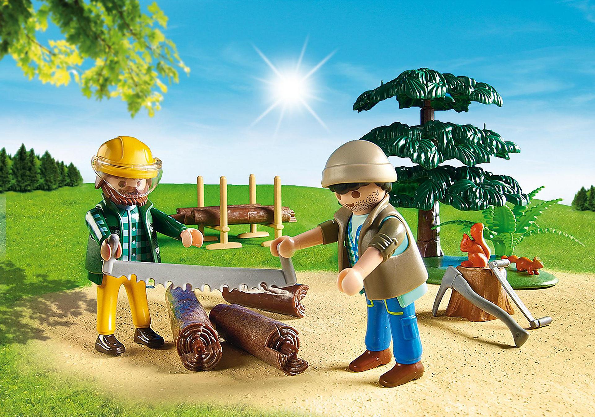 6814 Skogsarbetare med traktor zoom image7