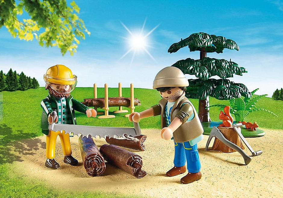 6814 Skovarbejder med traktor detail image 7