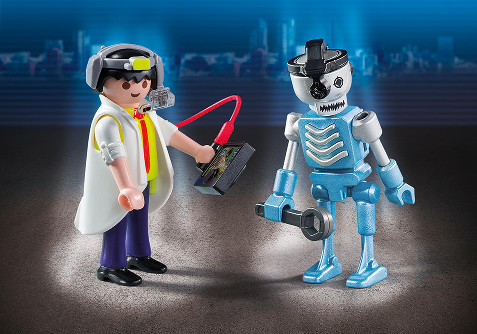 http://media.playmobil.com/i/playmobil/6844_product_detail/Duo Pack Científico y Robot