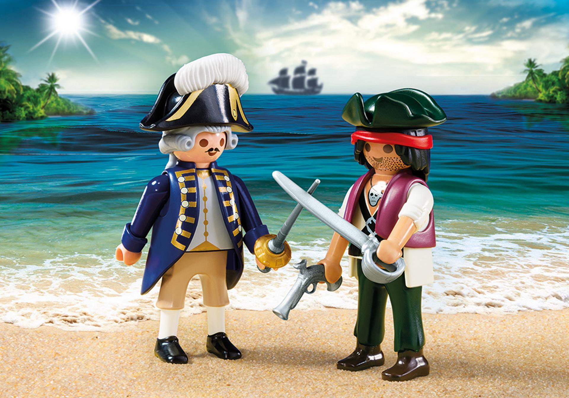 Pirate et soldat royal 6846 playmobil france - Coloriage playmobil pirate ...
