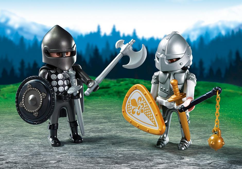 chevalier noir et chevalier dargent - Playmobile Chevalier