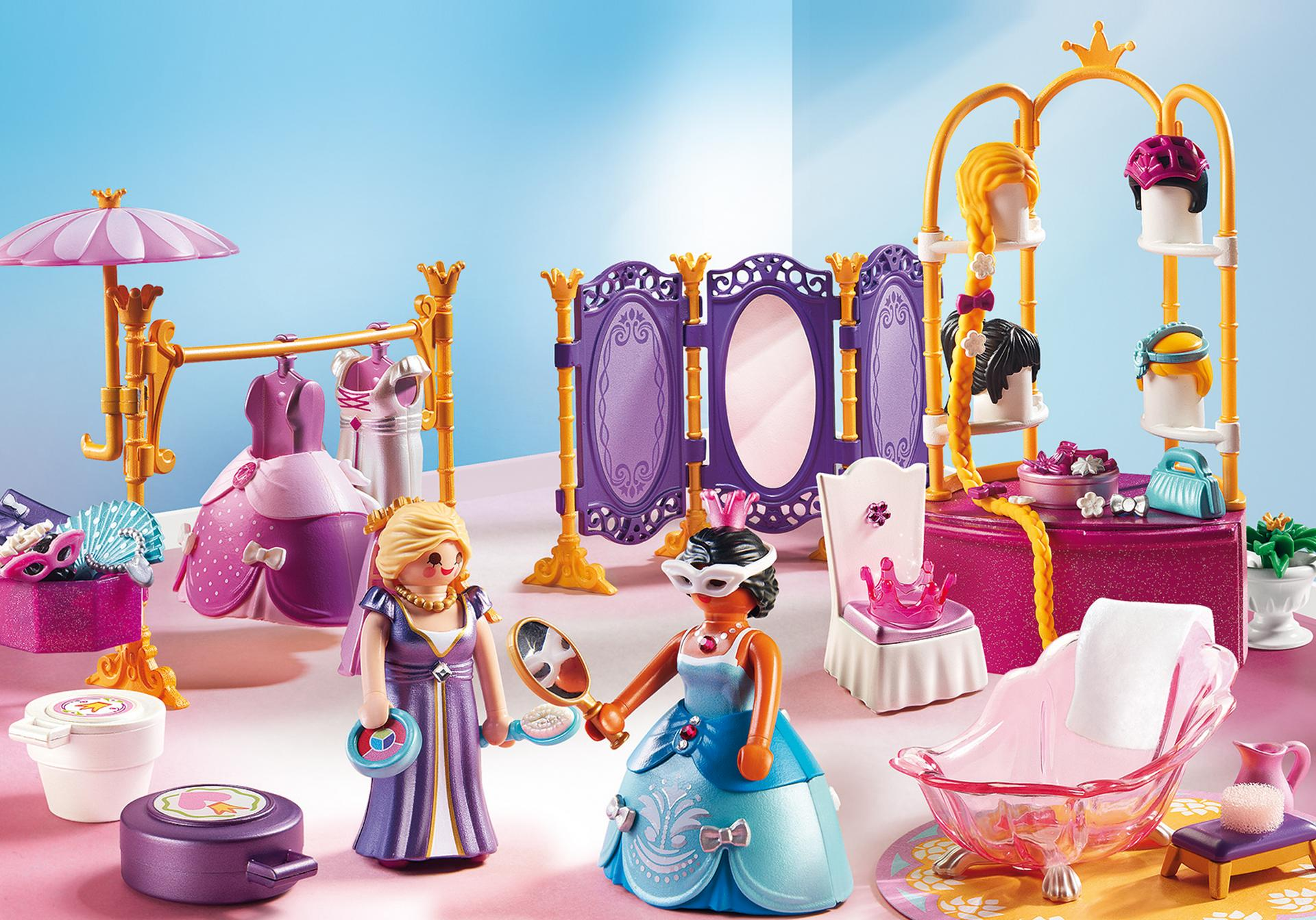 Salon de beaut avec princesses 6850 playmobil france for Playmobil chambre princesse