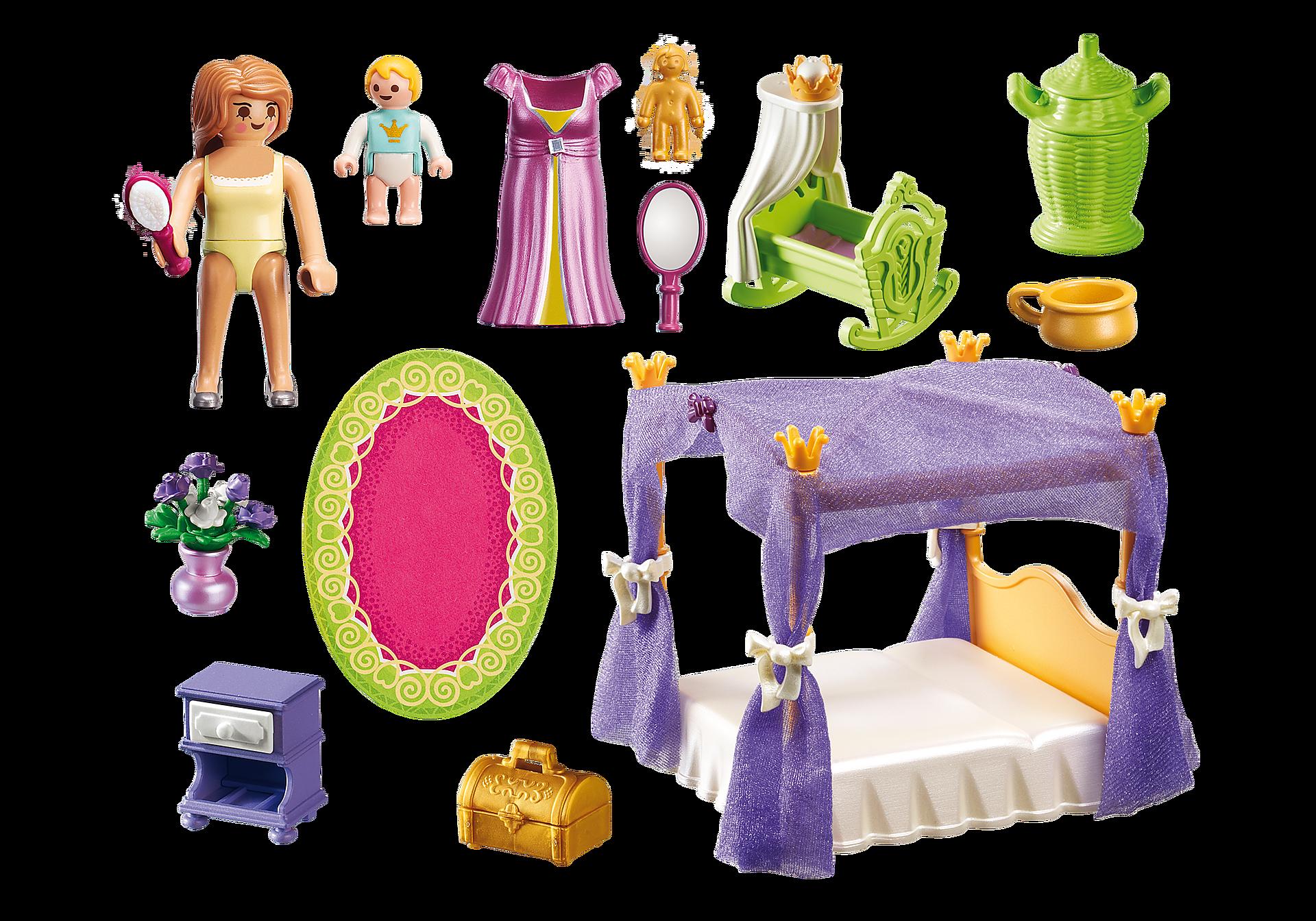 http://media.playmobil.com/i/playmobil/6851_product_box_back/Замок Принцессы: Покои Принцессы с колыбелью