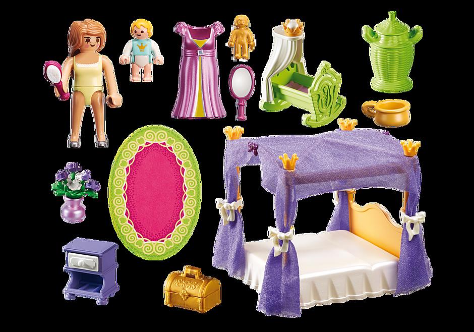 6851 Chambre de la reine avec lit à baldaquin detail image 4