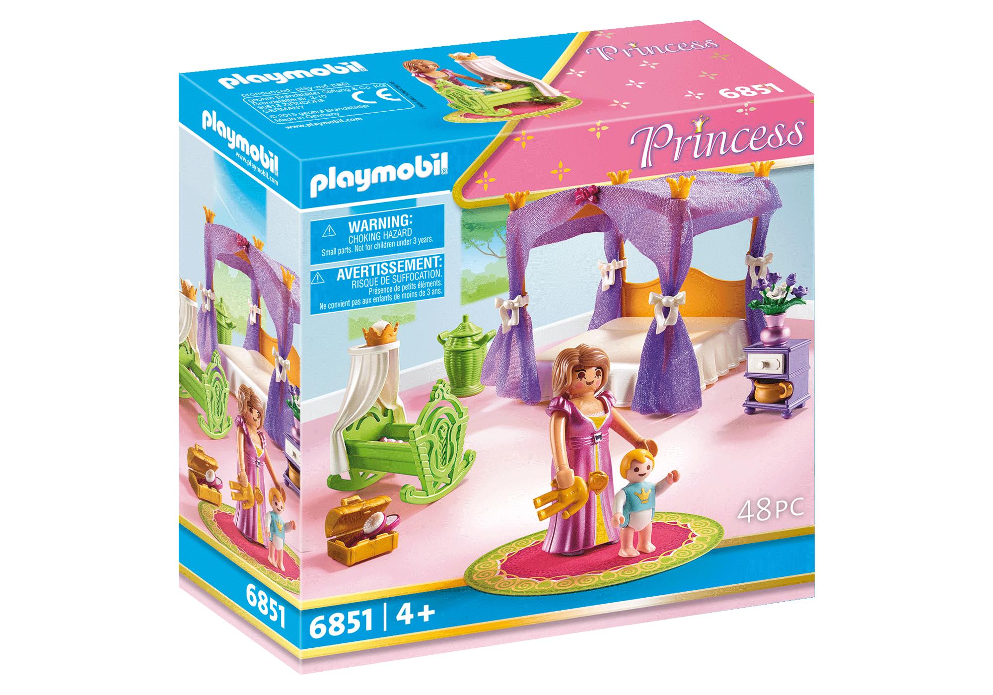 http://media.playmobil.com/i/playmobil/6851_product_box_front/Замок Принцессы: Покои Принцессы с колыбелью