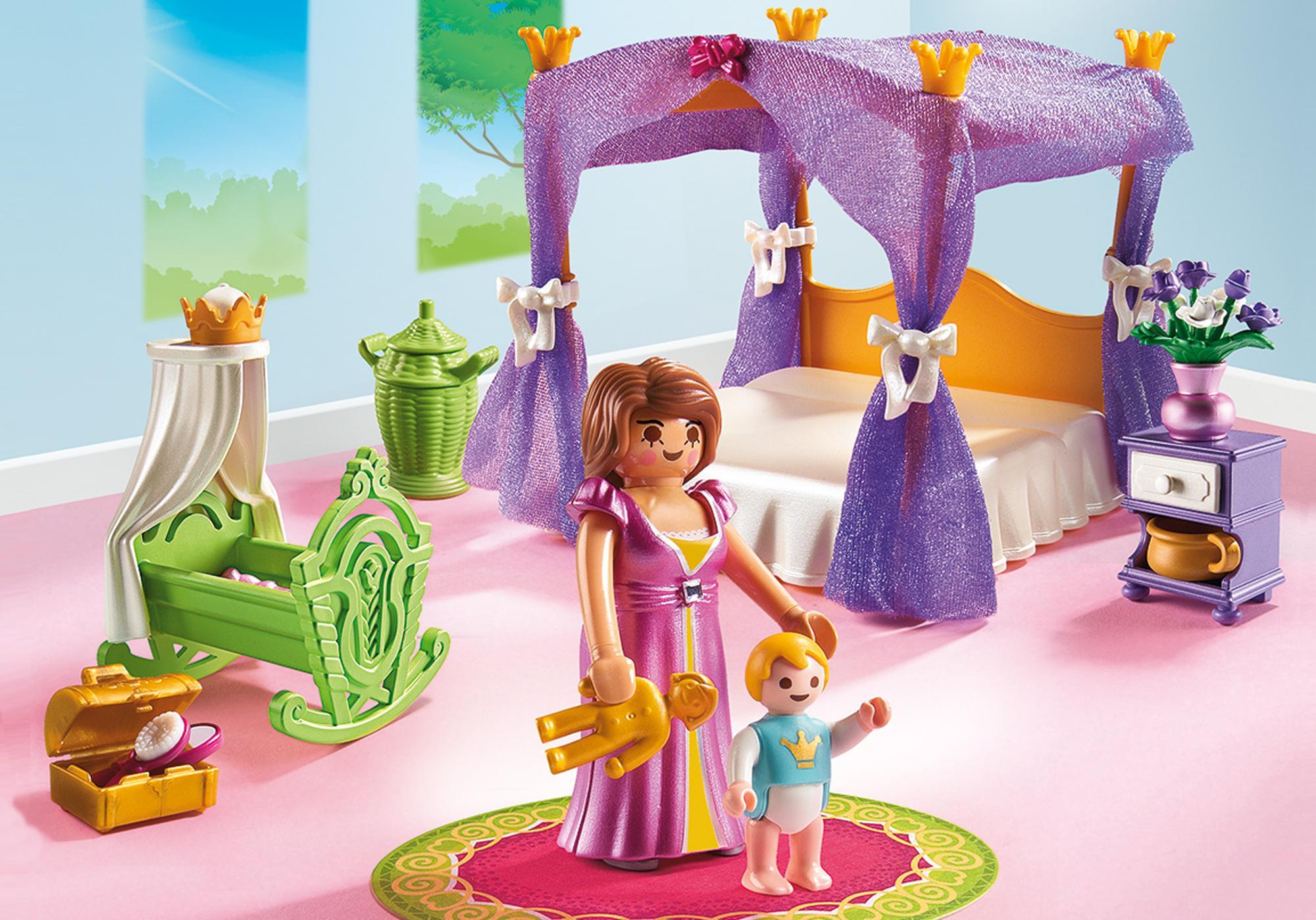 http://media.playmobil.com/i/playmobil/6851_product_detail/Замок Принцессы: Покои Принцессы с колыбелью